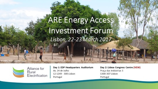 ALER partner of ARE Energy Access Investment Summit 2017 in Lisbon
