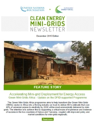 1st Newsletter on Clean Energy Mini/Micro-grids